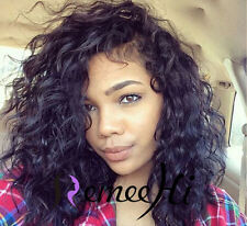 "12""-18"" malaysia soft curly  human hair full / front lace wig brazilian hair"