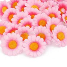 100x Artificial Gerbera Daisy Silk Flower Heads for Wedding Party 5 Colors