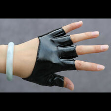 NIce Half Finger PU Leather Gloves Ladys Fingerless Driving Show Pole Dance r37