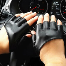 NIce Half Finger PU Leather Gloves Ladys Fingerless Driving Show Pole Dance t95