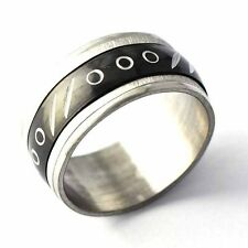 Fashion jewelry Black/White Stainless Steel Carved  Mens Ring Size 8 9 10 11 12