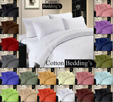 800 1000 TC 100% Egyptian Cotton All US Sizes Super Soft Bedding items in Solid