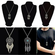 New Lady Noble Retro Jewelry Dream Catcher Pendant Long Chain Necklace Gift BOHO