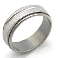 Fashion jewelry White Gold Plated Stainless Steel Scrub Band Ring 7 8 9 10 11