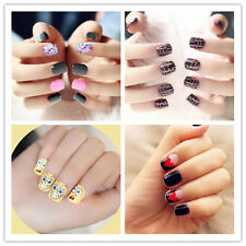 24PCS  Package Girls Cute False Nail Tips French Manicure Fake Fingernails