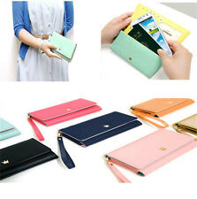 Envelope Zip Wallet Purse Card Case Cover For Samsung Note 3/2 S5/S4/S3/2 BT Hot