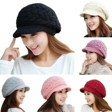 Fashion Winter Warm Women Crochet Knit Beret Ski Beanie Baggy Peaked Hat Cap New