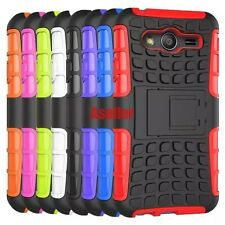 For Samsung Galaxy ACE 4 3D 2-Layer Shock Skip Proof Rugged Impact Hard TPU Case