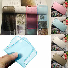 Hot Ultra Thin Slim 0.3mm Soft TPU Gel Silicone Back Case Shield For Smart Phone