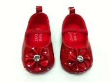 New ZARA BABY Soft Sole Baby Girls Diamonte Crib Shoes. 2 Colors. Age 0-18 Mnths