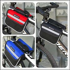 Cycling Bag Bicycle Top Frame Pannier Front Tube Double Saddle Bag Mountain Bike