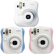 Fuji Instax Mini 25 Instant Film Camera Fujifilm White Blue Pink