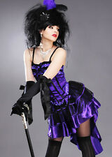 Womens Purple Moulin Rouge Showgirl Costume DRESS AND CORSET ONLY