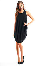 Sleeveless Black Loose Fit Tunic/Dress Joseph Ribkoff 153265 Sz 10 12 UK 12 14