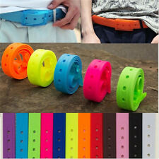 1PC Colorful  Rubber Vinyl Jelly Silicone Suit Casual Belt Buckle Adjustable New