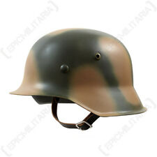 WW2 GERMAN M42 Normandy 2 Colour Camouflage HELMET Reproduction Stalhelm