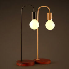 Modern Simple High Arch 1-Light Wooden Base Study Lights Beside Desk Table Lamp