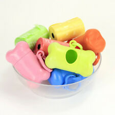Cleaning Tool Pet Dog Cat Rubbish Bag Poo Carrier Bone-shaped Box Puppy Holder