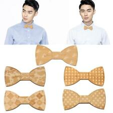 Mens Fashion Wooden Handmade Bow Tie Wood Bowtie Magnet Adults's Accessories