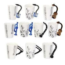 Music Notes Tea Coffee Coffee Milk Mug Cup Gift w.Instrument Handle Porcelain