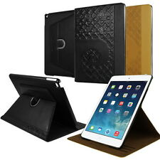 Pierre Cardin Original Genuine Leather Smart Cover Rotating Case For iPad Air 2