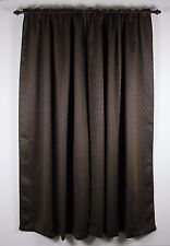 Brown Dimanond pattern Top Grommet Blackout Window Curtain Panels