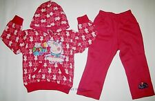Brand new Peppa Pig Track Suit girls Hoodie Jumper jacket and pants tracksuit