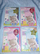 BIRTHDAY CARD SON DAUGHTER GRANDSON OR GRANDDAUGHTER 1ST FIRST BIRTHDAY LARGE