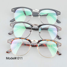 011 Unisex round plastic optical metal frame myopia eyewear RX spectacles glass