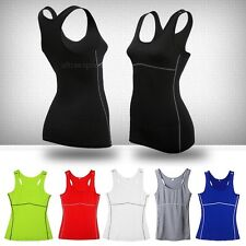 Women's Lady Sports Vest Wear Yoga Vest Tank Fitness Gym Running Stretch Clothes