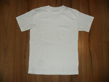 BOYS WHITE 100% COTTON SHORT SLEEVE T-SHIRT PE SPORT SCHOOL CASUAL AGE 6-16 YRS