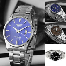 New Luxury Mens Stainless Steel Band Date Analog Quartz Sports Wrist Watch
