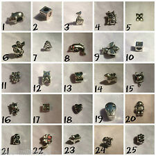 Silver Plated Charm Beads For European Charms Bracelets *Various Designs* #4