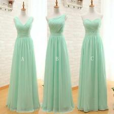 Stock Mint Chiffon Formal Bridesmaid Dress Party Cocktail Evening Prom Gown 6-18