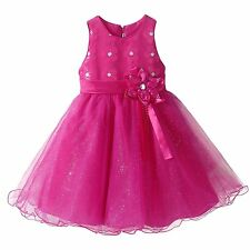Sequined Flower Girl Dress Birthday Wedding Bridesmaid Formal Recital Graduation