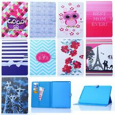 New PU Leather Patterned Flip Folio Stand Cover Case for iPad Mini Air Pro 2/3/4