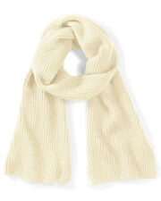 Beechfield Metro Knitted Scarf B469 Ladies Snug Ribbed Knit Soft Touch Scarves