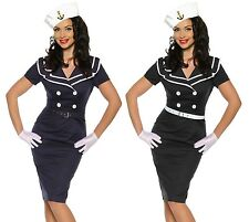 seXy Pin-Up Vintage Dress 1950'S Years Party dress Navy Sailor Rockabilly S-XXXL