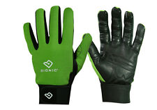 "2 Pairs Bionic Womens Gardening Gloves - ""Bloom"" Mesh Back w/Leather Palm/Green"