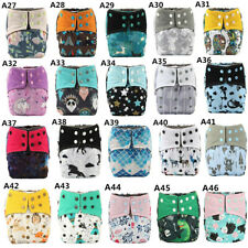 U PICK AIO Reusable Washable Baby Cloth Diaper Nappy Sewn Charcoal Insert Night