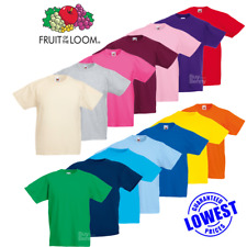 Fruit Of The Loom 61033 Valueweight Childrens T-shirt Kids Short Sleeve Age 2-16