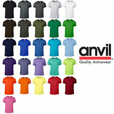 Anvil MEN'S FASHION T-SHIRT TEE 27 COLOURS NEON FLUORESCENT 80' PARTY BRIGHT NEW