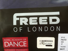 Freed (London) Navy Blue Faith Ballet Dance Leotard RAD Sleeveless Ruched Front