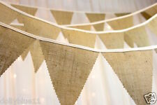 rustic Hessian Bunting - Choose Your Own Length - wedding, barn dance, party