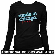 Made in Chicago Women's Long Sleeve T-shirt LS - Illinois Windy City IL - S-2X