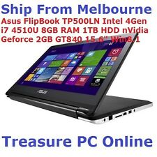 "ASUS TP500LN-CJ035H FlipBook laptop i7 4510 8GB Ram 1TB HD 15.6"" Touch GT840"