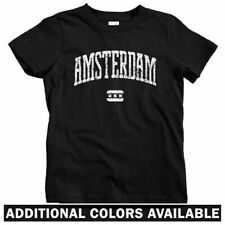 Amsterdam Kids T-shirt - Baby Toddler Youth - Netherlands Nederland Dutch Oranje