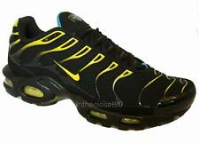 Nike Air Max Plus Tuned 1 Tn Black Tour Yellow Dynamic Blue Mens Trainers 604133