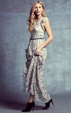 Free People Cherry Blossom Sheer Ivory Floral Backless Maxi Dress $350 NWT Sz 8