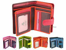 Visconti Multi Compartment Soft Leather Purse / Wallet For Ladies - Rainbow RB51